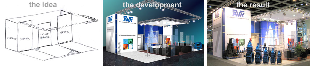 Construction Company For Exhibitions. We create, design and realize your individual and functional booth.