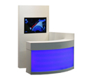 LED-colour-change counter including multimedia-wall